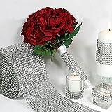 Chinatera Silver Wedding Diamond Mesh Wrap Roll Sparkle Rhinestone Crystal Ribbon Wedding Decorations, Party Supplies (1.55 X 10 Yard) by Chinatera
