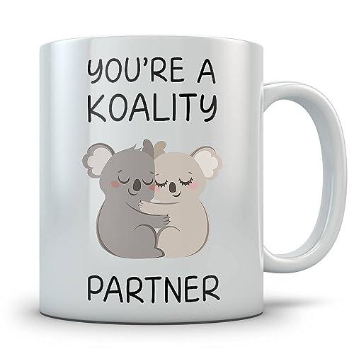 Cute Christmas Gifts For Girlfriend.Amazon Com Cute Koala Mug You Re A Koality Partner Coffee