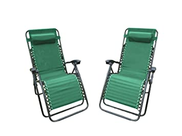 Sedia A Sdraio Classica Lafuma : Set di sedie da giardino verde sdraio reclinabile sedia