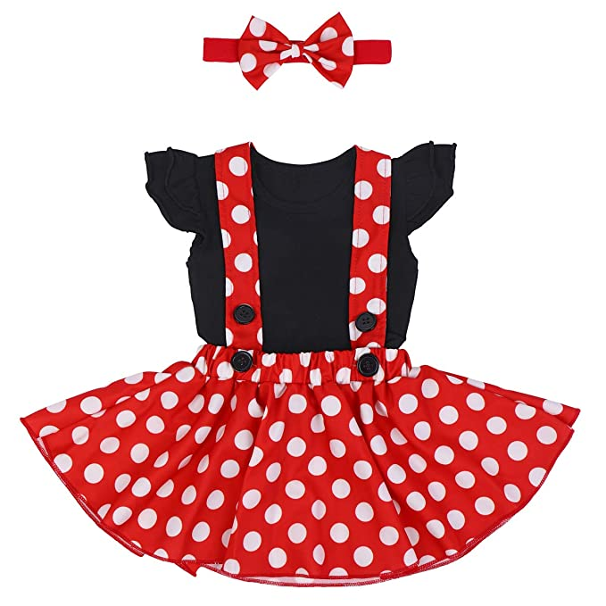 6cfe04d8b80 Polka Dots Minnie Costume Romper for Baby Girl Princess 1st Birthday Party