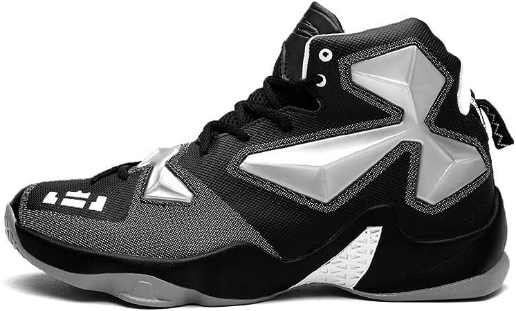Chaussures de Sport dext/érieur Respirantes avec Choc /élastique LFLDZ Chaussures de Basket-Ball pour Hommes Baskets de Course l/ég/ères en Tissu KPU,Bleu,39 Bottes de Basket-Ball Montantes A la Mode