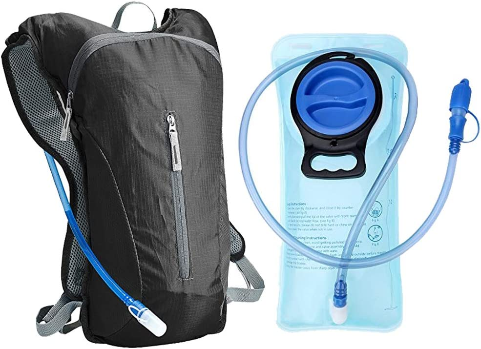 ZUKKA Hydration Backpack with 2L Water Bladder,Lightweight Pack Perfect for Cycling Hiking Climbing Fits Men Women