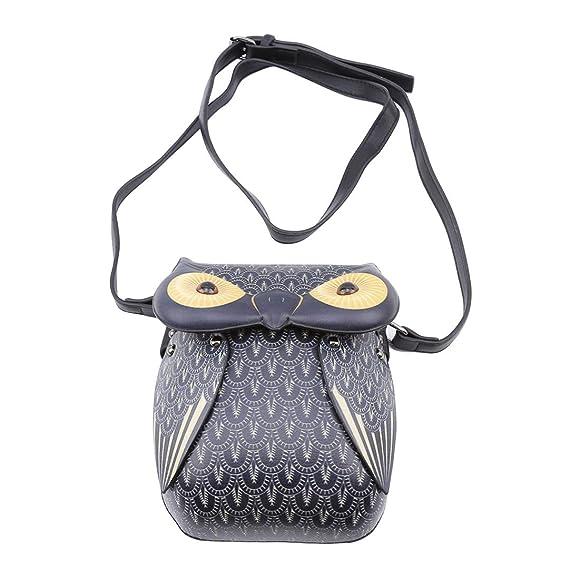 e27912edbc1b5 Faliya Kleine Eule Schultertasche Handtasche Damen Messenger Bag Cartoon  Crossbody Handy Tasche für Mädchen