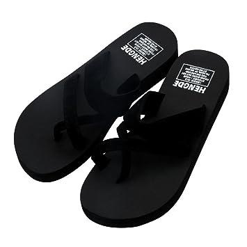 1dca66cbda7 Summer Beach Slipper - Womens Summer Flip Flops Casual Slippers Toe Ring  Platform Wedge Sandals Non