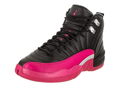 "ba98ae3bd4d Nike Jordan Retro 12""Deadly Pink Black/Deadly Pink (Big Kid) ("