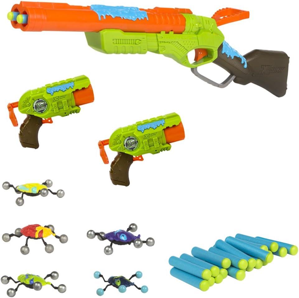 X-Shot - Bug Attack Rifle Eliminator y 2 pistolas Predator (44205)