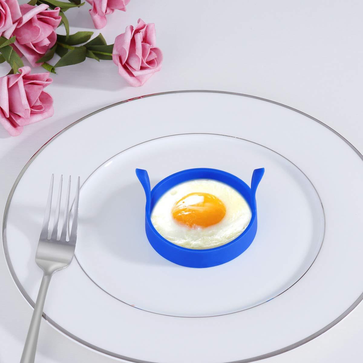 colore casuale BESTONZON 4 colori Fry Egg stampo rotondo a forma di uovo in silicone frittura stampo omelette con manico