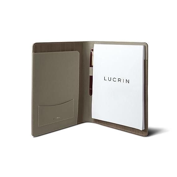 Lucrin - Cartera A5 - Taupe Luz - Piel Liso: Amazon.es: Oficina y papelería