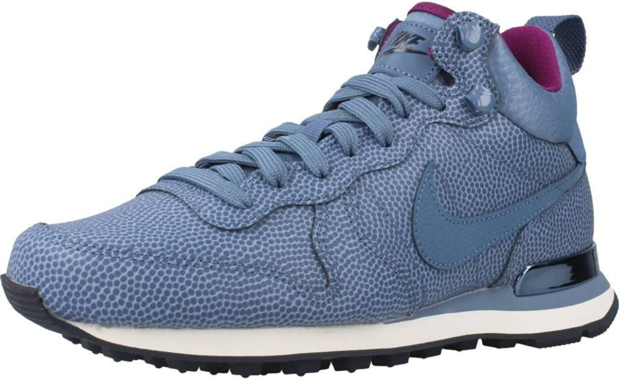 check out c00bd 730b3 NIKE Internationalist Mid Leather 859549-400 Ocean Fog Obsidian Women s  Shoes (Size 6