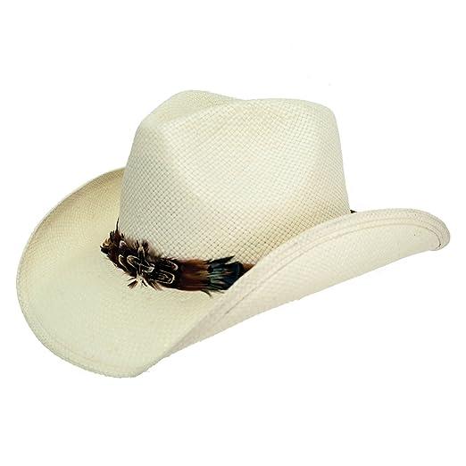 c86321df16a7a Peter Grimm Mendi Drifter White Toyo Straw Cowboy Hat at Amazon ...
