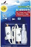 DXアンテナ フラットケーブル(F形接栓座) 1JW1F1B