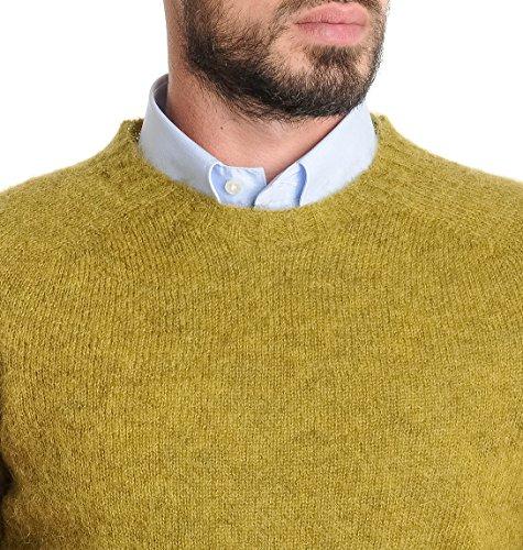 Roberto Collina Maglione Uomo RM2900142 Lana Giallo