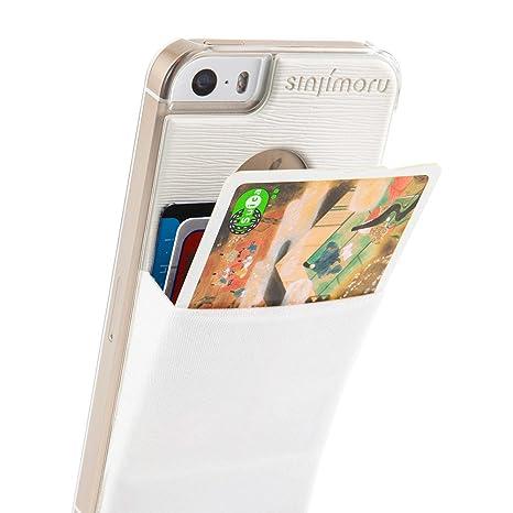 Sinjimoru Sinji Funda Slim Cartera Tarjeta Soporte Transparente Duro Caso Dinero Clip para iPhone 5 5S