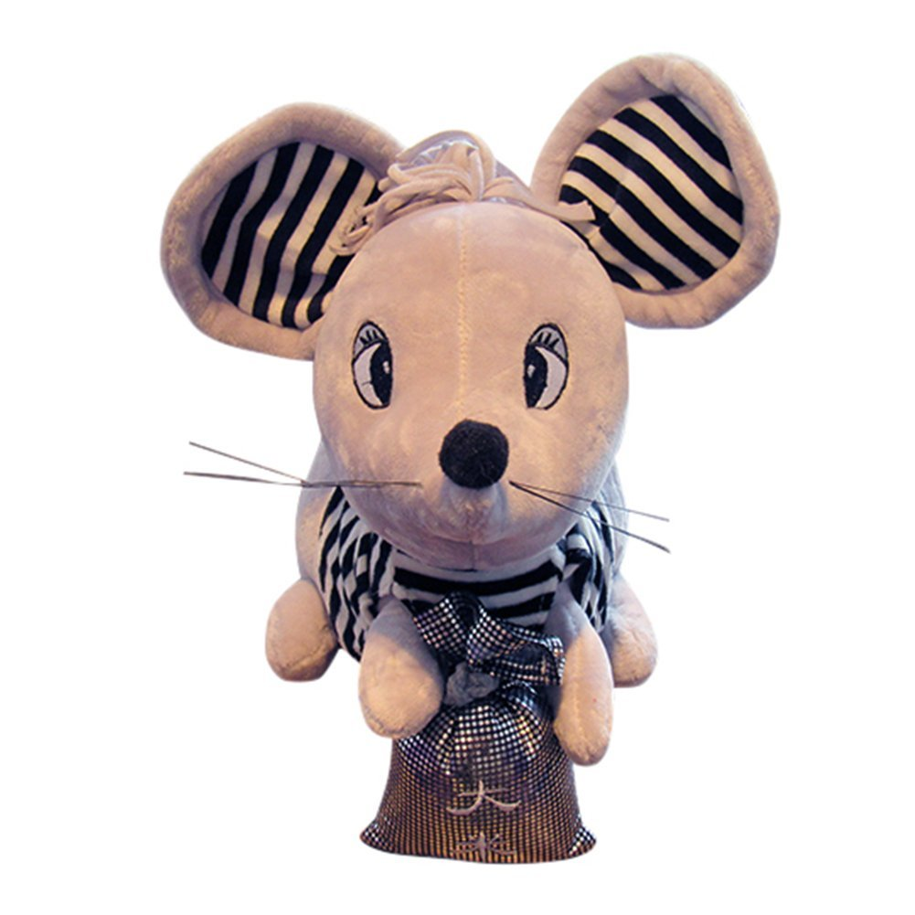 Grey 30cm RemeeHi Super Cute Plush Mouse Stuffed Animal Toys, 16 inches Stuffed Mice Couple Doll (One Pair)