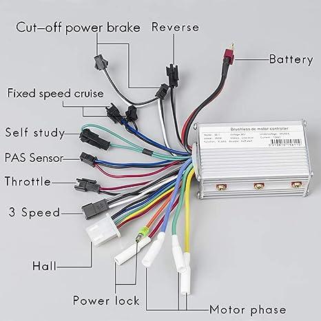 Kunray - Controlador eléctrico para Bicicleta (36 V/48 V/24 ...