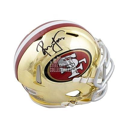fa21a9460 Signed Ronnie Lott Helmet - Chrome Mini BAS Black - Beckett Authentication  - Autographed NFL Helmets