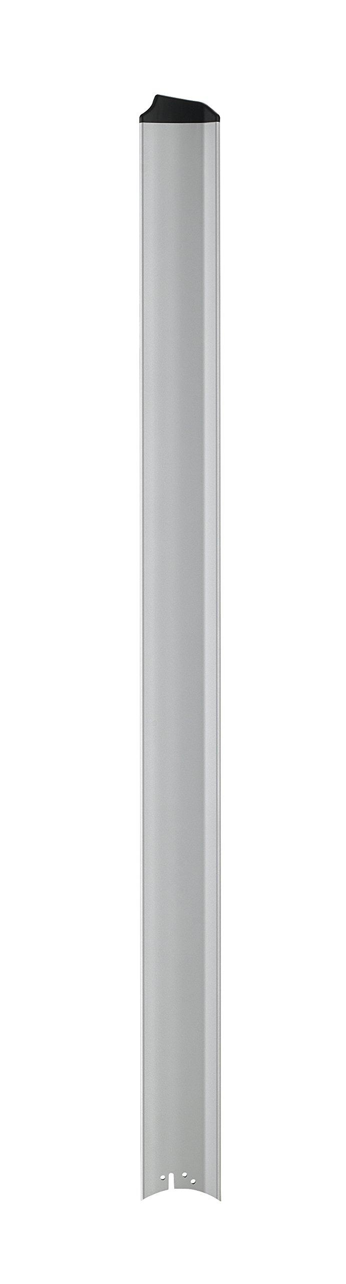 Fanimation B7998-96SLW Fan Blades Set (Set of 8), Silver with Black Tip