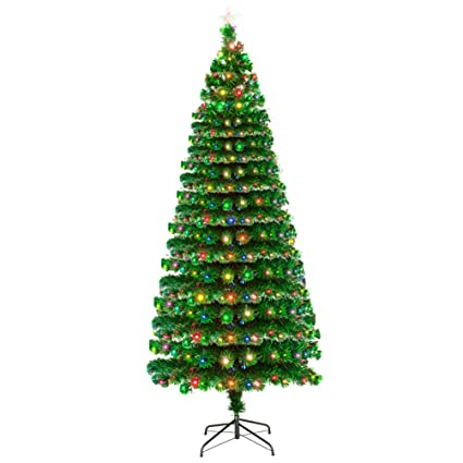 Anqi Artificial 7.5FT Fiber Optic Christmas Tree with Tree Star 260  Multi-Color LED - Amazon.com: Anqi Artificial 7.5FT Fiber Optic Christmas Tree With