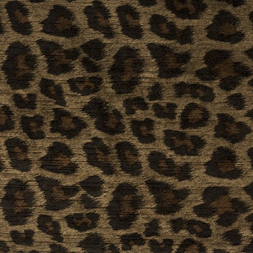 Morgan Fabrics Panthera Toffee Leopard Faux Animal Printed Performance Velvet Upholstery By the Yard Leopard Upholstery Fabric