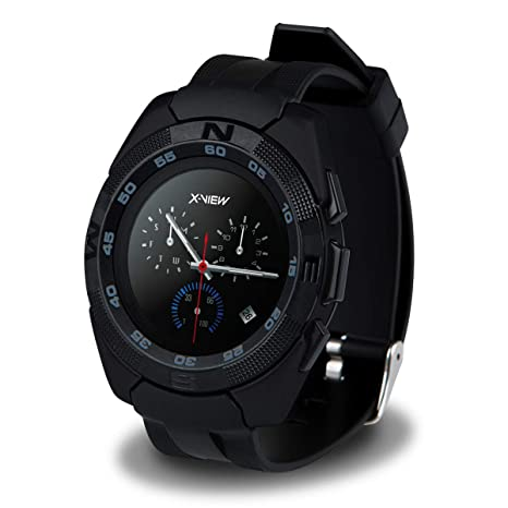 Reloj Inteligente, Reloj smartwatch Bluetooth Deportivo con podómetro, pulsometro, giroscopio HD, monitoreo de sueño y notificación de Mensajes ...