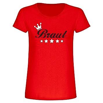 T-Shirt  quot Braut mit Krone und Sternen quot , Fun-Shirt, 25fd116658