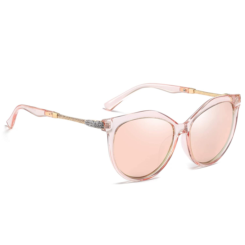 AMZSPORT TRENDY SERIES Cl/ásico Moda Gafas De Sol Polarizadas Para Mujer Cat-Eye Estilo UV400 Lente de Protecci/ón Lente