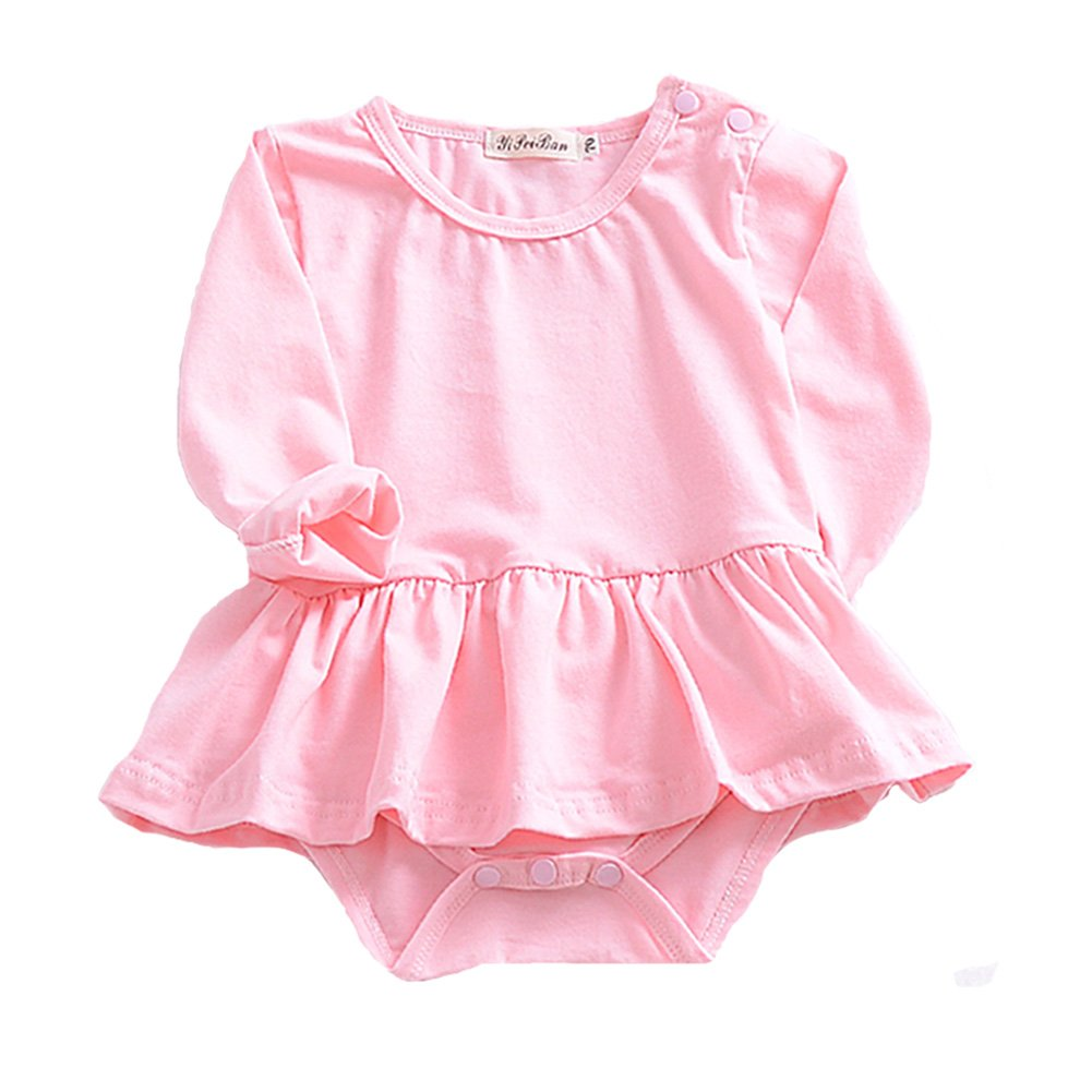 Weixinbuy Infant Baby Girls Cute Long Sleeve Bodysuit Romper Outfits Clothes