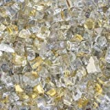 Lakeview Outdoor Designs 1/2-Inch White Gold Reflective Fire Glass - 1 Pound