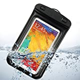 Black Transparent Plastic Waterproof Pouch Dry Bag Case for Samsung Galaxy note 2 N7100 / Samsung galaxy note GT-N7000 / Samsung Galaxy S3 I9300 / Samsung Galaxy S4 i9500 / Iphone5 / Iphone 5g / Iphone 5s / HTC one / HTC ONE MINI / LG Optimus G Pro
