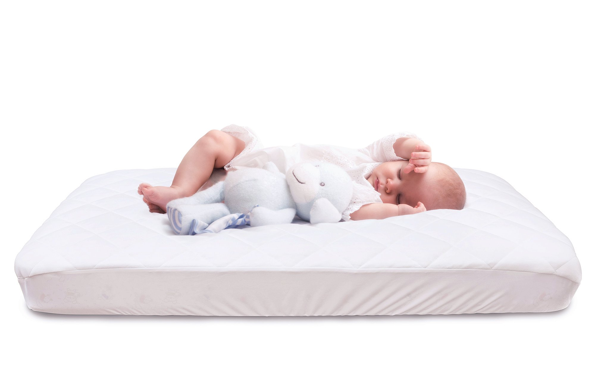 Spring Sale 40% Off - Quilted and Fitted Waterproof Crib Mattress Pad & Cover Made of Silky Smooth Bamboo Fiber Rayon Perfect for Baby and Toddler Use by Natural Fabrix