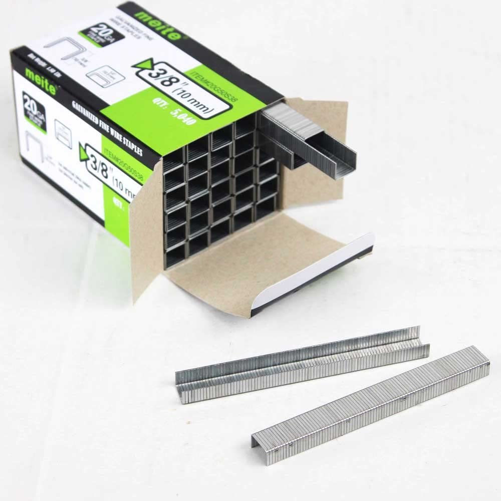1 meite 20 Gauge 50 Series 1//2-Inch Crown 1//4-inch Leg Length Upholstery Staples 5000 PCS Per Box