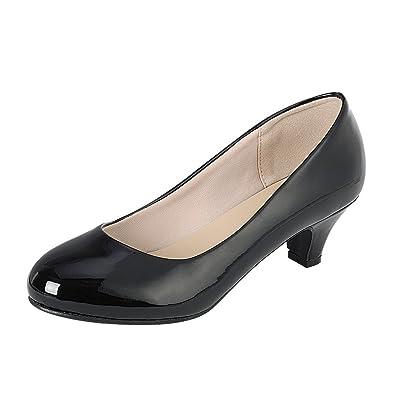 Cambridge Select Women's Classic Dress Formal Round Toe Low Mid Heel Pump | Shoes
