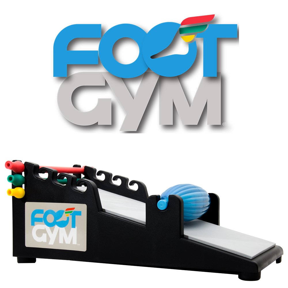 Foot Gym helps prevent Plantar Fasciitis, Achilles Tendonitis and Shin Splints and includes a Hot/Cold Recovery Massage Roller by Foot Gym