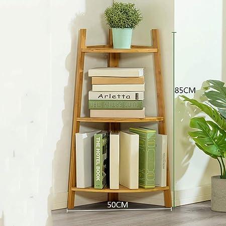 Librería rincón soporte soporte madera escalera almacenamiento Display Stand sala dormitorio casa escritorio oficina registro, blanco, negro,Brown: Amazon.es: Hogar
