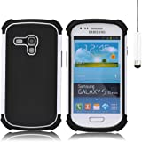 32nd Shock Proof Defender Heavy Duty Protective Case Cover for Samsung Galaxy S3 Mini (Siii Mini) - White