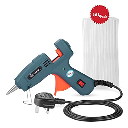 Hot Glue Gun, Beeway® 20W Electric Melt Glue Gun Aluminum Nozzle with 50  pcs Glue Sticks (7mm x 150mm) Super Adhesive for DIY, Hobby, Craft,