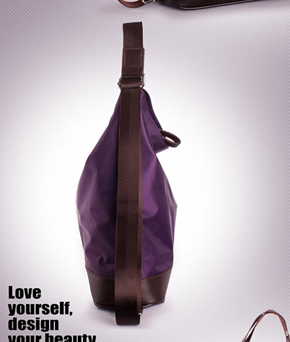 Womens Nylon Multifunctional Totes Shoulder Bag Backpack Small Size 12X12X5.5 Model B-purple KGBAG160608-14 KISS GOLD TM
