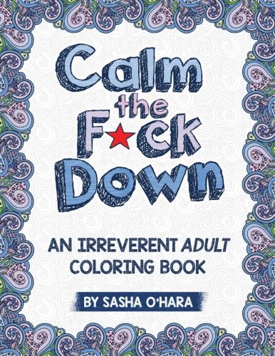 Calm Down Irreverent Adult Coloring product image