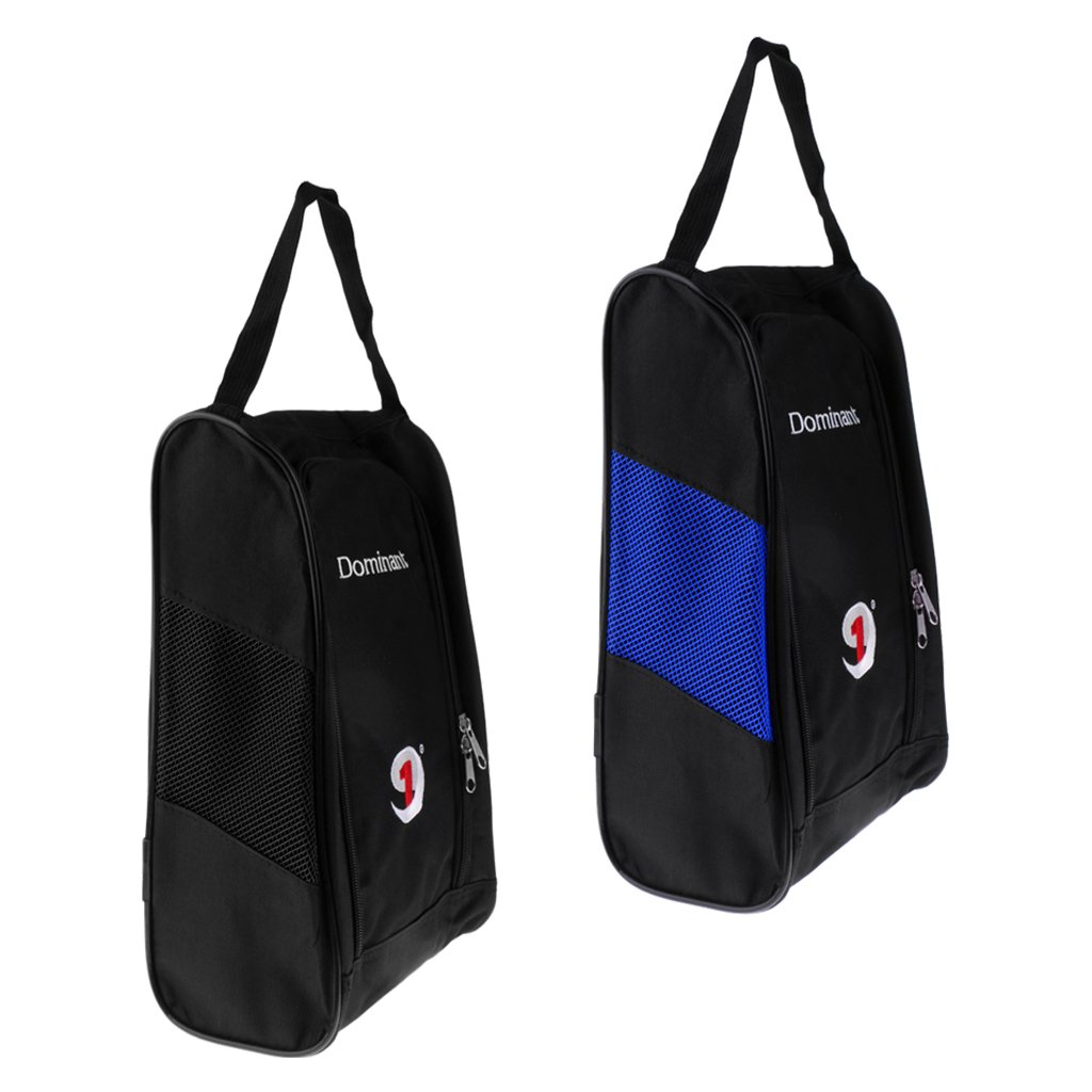 dolity 2ピースポータブル防水ゴルフスポーツ靴ストレージバッグブルー+ブラック B079JLCPXP