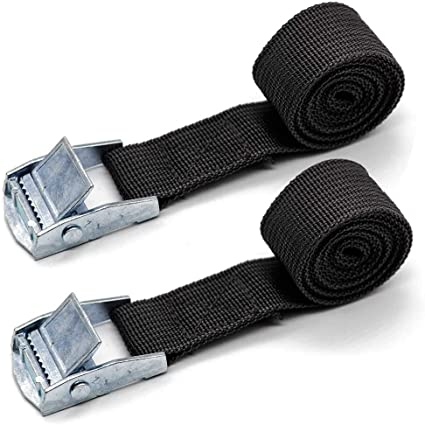 20 Pack Easy-to-Use Cambuckle Tie Down Straps 25mm x 2 metres