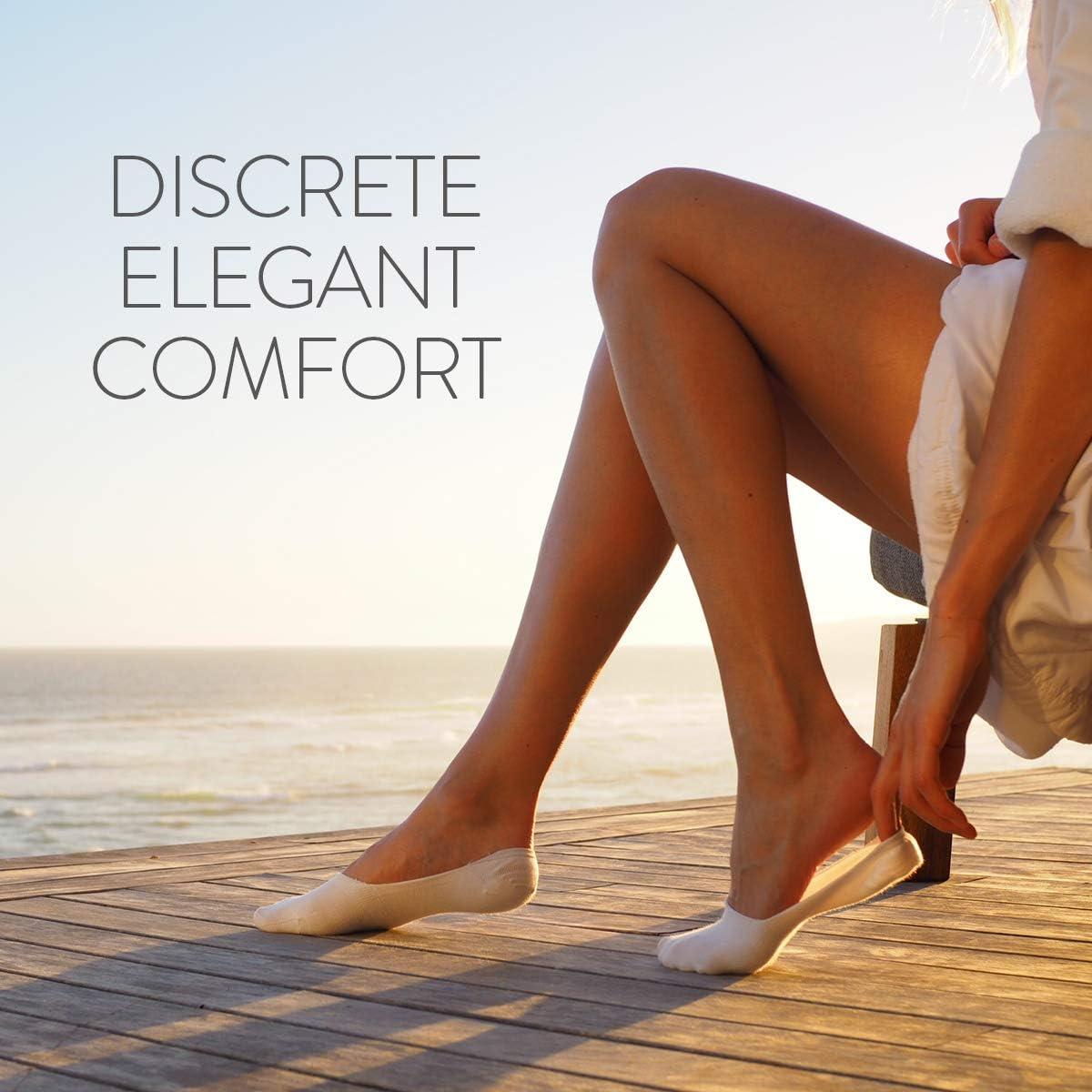 Anti-D/érapantes et Invisibles Socquettes femme en coton lot de 5 paires - PREMIUM Chaussettes basses ALL ABOUT SOCKS Chaussettes invisibles pour femmes