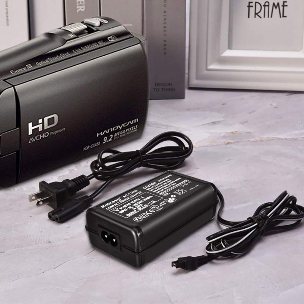 AC-L200 AC Power Adapter Charger for Sony Handycam Camcorder DCR-SR68 SR42 SR45 SR46 SR47 SX40 SX41 DCR-SX44 SX45 SX63 SX65 SX83 SX85 HDR-CX230 CX220 CX190 CX160 CX155 CX150 CX130 CX100 CX110/CX115