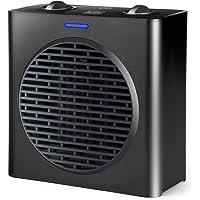 Black+Decker BXSH1500E Calefactor cerámico, 1500 W, Negro