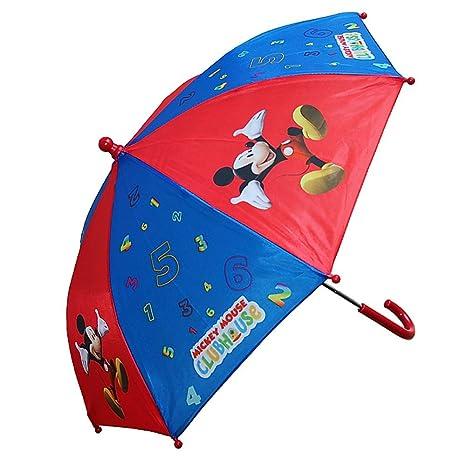 Mickey Mouse - paraguas de los niños - color azul/rojo: Amazon.es ...