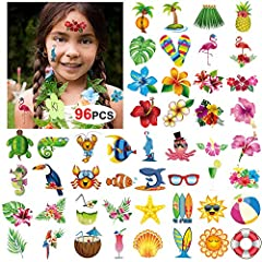 No matter you're throwing a beach party or beach bash, Or is picking out your Hawaiian luau decorations.you'll love these Tropical Tattoos. With sizzling summer-inspired designs, Including a bright sun, flip-flops, Hula Skirt, Hibiscus Flower...