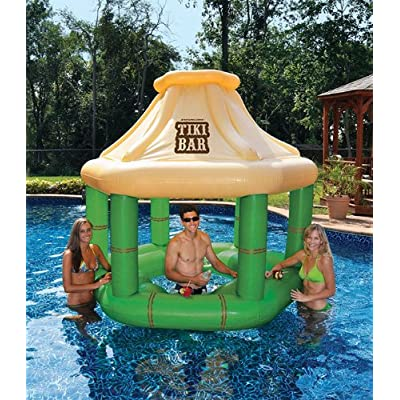 Inflatable Floating Tropical Tiki Bar for Swimming Pool, 7.5-Feet: Toys & Games