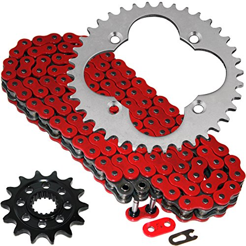 Caltric Red O-Ring Drive Chain & Sprockets Kit Fits HONDA 450R TRX450R TRX-450R 2004 - Drive Chain O-ring
