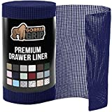 Gorilla Grip Original Drawer and Shelf Liner, Non Adhesive Roll, 17.5 Inch x 10 FT, Durable and Strong, Grip Liners for Drawers, Shelves, Cabinets, Storage, Kitchen and Desks, Navy Blue