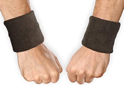 f0a02c9093c2 Tough Headwear Sports Wristbands - Wrist Sweatbands for Men   Women -  Stretchy   Sweat Absorbing