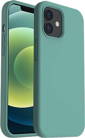 Ornarto Silikon Hülle Kompatibel Mit Iphone 12 Mini Case 5 4 Verstärkte Stoßfeste Flüssige Silikon Gel Gummi Ganzkörper Schutz Stoßstange Abdeckungs Handyhülle Schutzhülle Piniengrün Elektronik